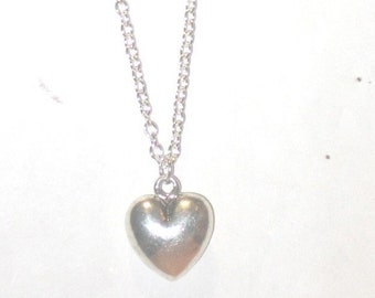 Silver Heart Necklace - 1240