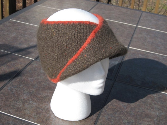 Felted Wool Moebius Ponytail Hat