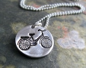 Bike Necklace Silver Bicycle Necklace Outdoor Sportsman Gift Bike Necklace For Him For Cyclist Eco Friendly Jewelry
