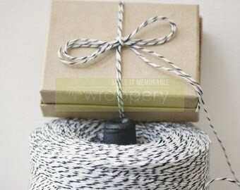 20 yards (60 feet) Black and White Optical Illusion Bakers Twine