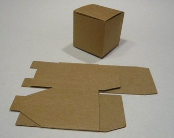 10 square cube kraft gift boxes - great for wedding favors / gift packaging