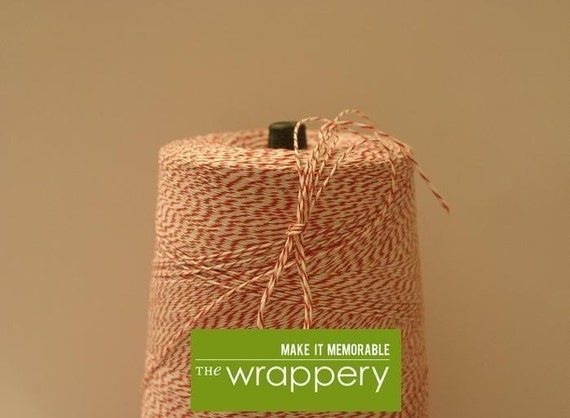 20 yards (60 feet) Red and White Candy Cane Bakers Twine
