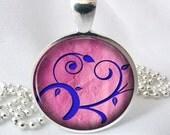 Resin Pendant Bright Floral Resin Jewlery Photo Charm Pendant, Resin Picture Pendant  (0176)