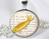 Gold Fish Epherma Koi Resin Jewelry Resin Pendnat Photo Pendant (0090)