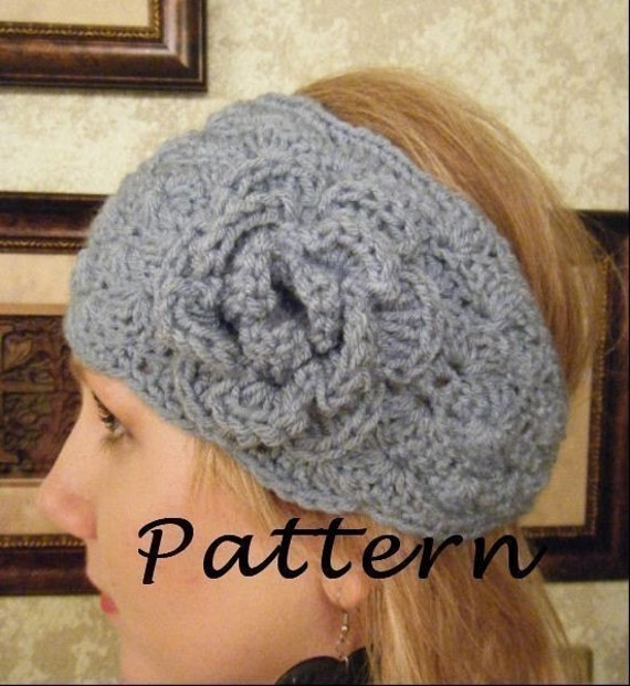 Free Crochet Pattern Headwrap : PDF Pattern Textured Crochet Headwrap/Ear Warmer/Headband