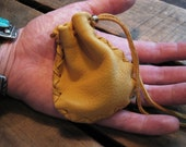 Old King - Mini Deerskin Leather Pouch Coin/Medicine/Jewelry