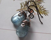 Earrings, Kyanite.  Silver Blue. Celtic Serenity.