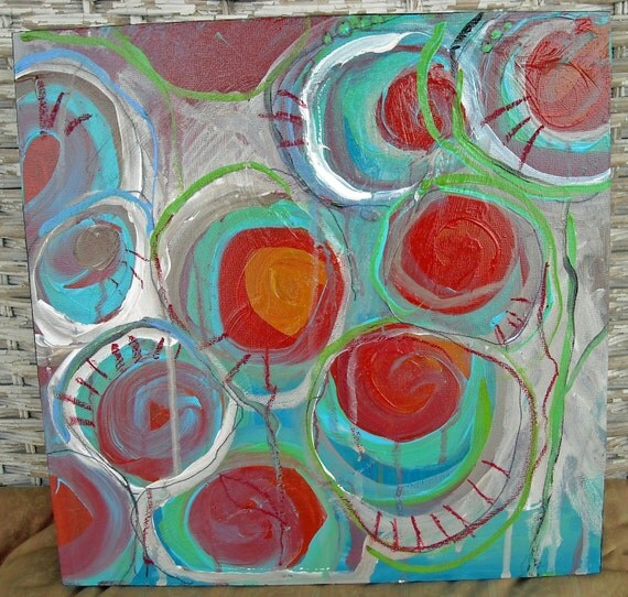 Original painting 'Impossible Dream'  acrylic painting on wood