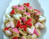 ITTY BITTY Bite Size VALENTINE Heart Sugar Cookies, 2 bags