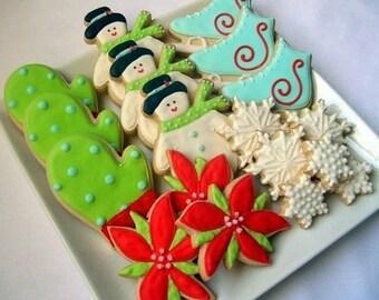 WINTER WONDERLAND Christmas Sugar Cookies Gift Set, 18 cookies