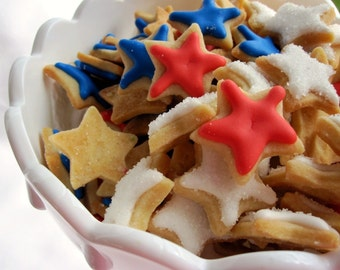 Mini STAR SUGAR COOKIES, Itty Bitty Sugar Cookies, 1/2 Pound
