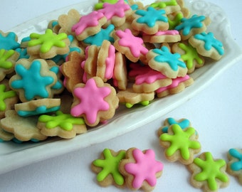 Mini FLOWER SUGAR COOKIES, Itty Bitty Sugar Cookies, 1/2 Pound