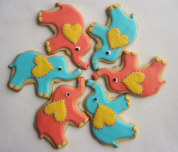 PAINTED ELEPHANT Sugar Cookie Party Favors