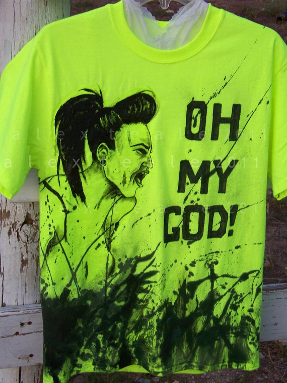 Skrillex OMG Hand Painted Artist Series T Shirt S or L