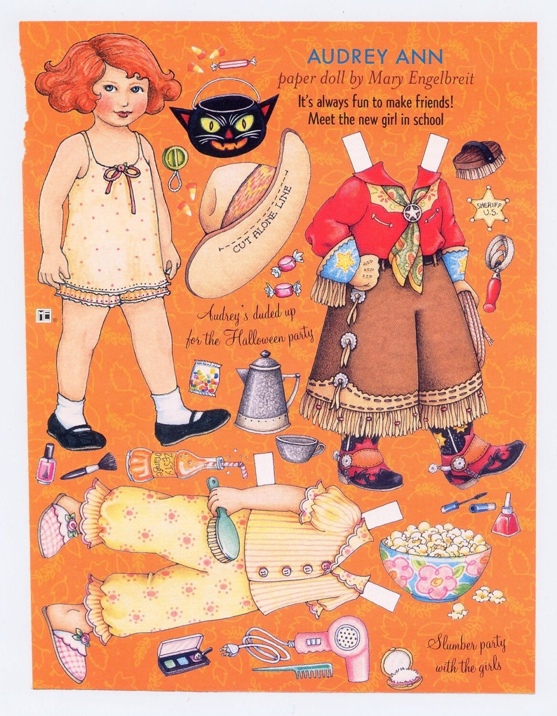 Mary Engelbreit Paper Doll Audrey Ann Ready For Halloween