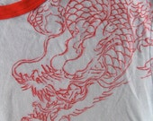 Double sided Dragon tee, hand drawn
