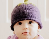 Blueberry Hat, Beanie Custom  Hand Knitted Cute NB Newborn Infant Photography Prop Girl Boy Wool Blend Halloween