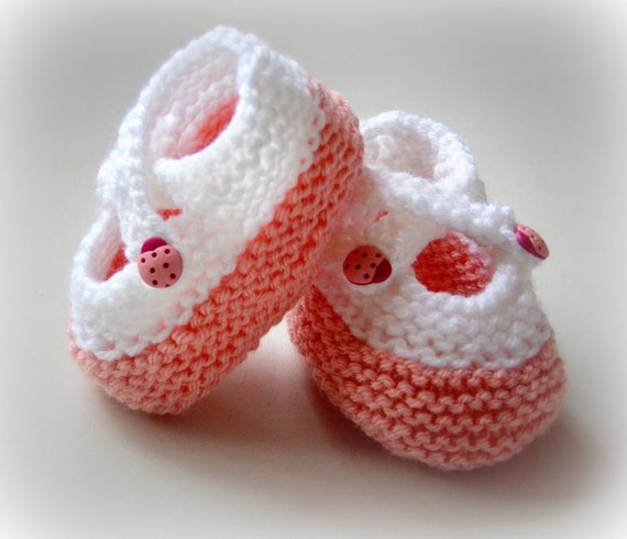Baby Slippers Baby Booties Infant Toddler Newborn Knitted Baby Slippers NB Cross Strap Ladybug Buttons Acrylic Mary Janes