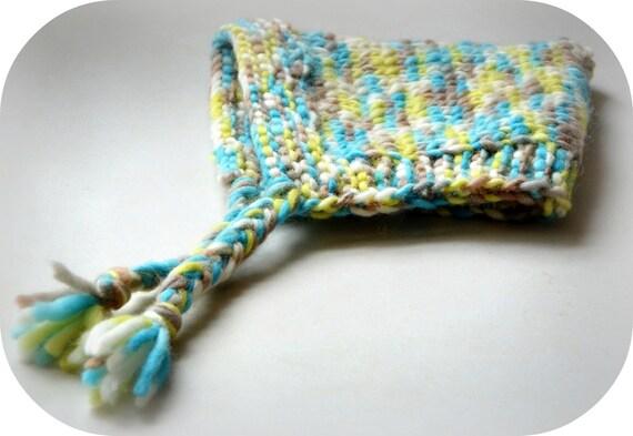 Cute Hooded Bonnet Hat  Photo Prop  Wool Ear Flap Custom Gnome Elf Winter Wool Newborn NB Infant Toddler Child