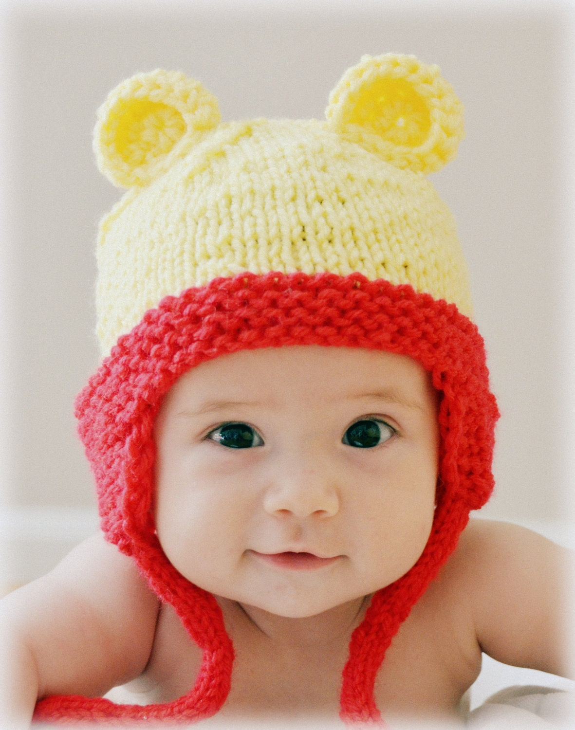 Teddy Bear Hat Winnie The Pooh Baby Hat Photo Prop Knitted