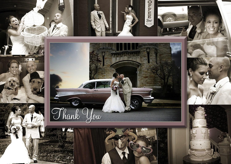 Wedding Invitation Frames: Items Similar To Collage Frame Wedding Invitation/save The