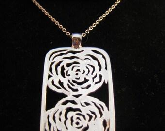Silver Wild Roses Pendant