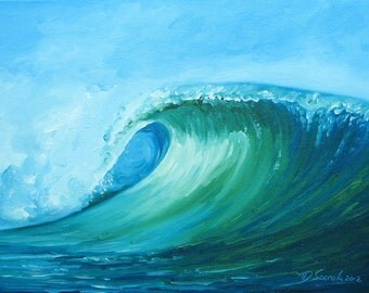"GICLEE reproduction on 8 1/2 x 11"" fine art PAPER - Curling Wave series 2 (wave, barrel, tube)"