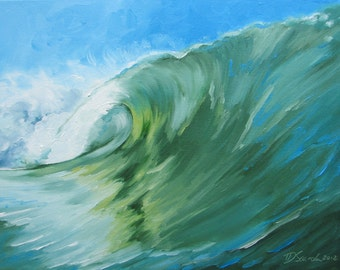 "GICLEE reproduction on 8 1/2 x 11"" fine art PAPER - Curling Wave series 3 (wave, barrel, tube)"