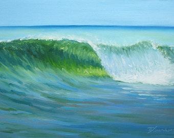 "GICLEE reproduction on 8 1/2 x 11"" fine art PAPER - Curling Wave series 4 (wave, barrel, tube)"