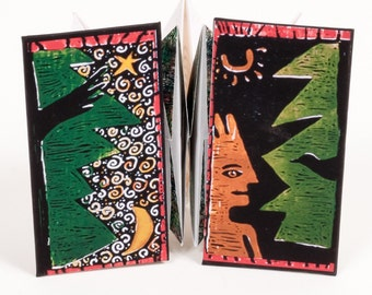 Good People, a handmade artist book with blessing, back to back accordion book