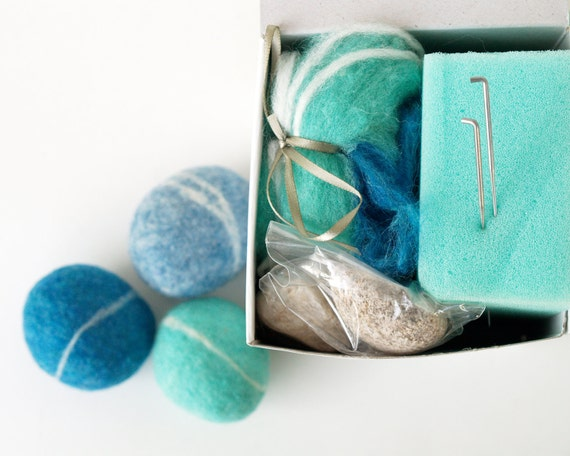 Items similar to felted pebble kit wool felting rocks for Felted wool boulders