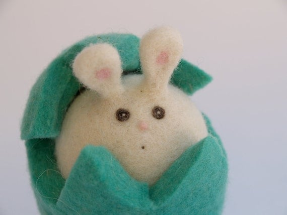 Bunny Rabbit Toy . Turquoise Blue Soft Animal Toy . Waldorf Inspired , needle felted wool . Waldorf Toy, Soft . boy or girl Christmas Gift