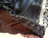 VintageLingerie  Pin up Girl 1950s Black Lace Sexy Panties