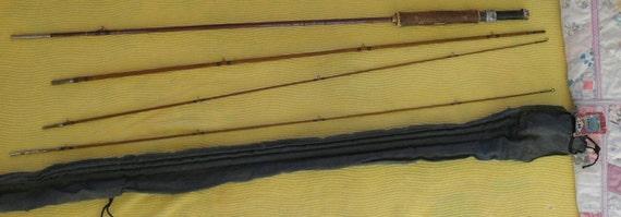 Vintage Bamboo fly fishing rod Split Cane  Spinner 9  ft.Horrocks Ibbotson