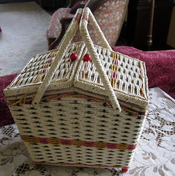 Vintage Musical Sewing Basket An Affair to Remember Sewing box