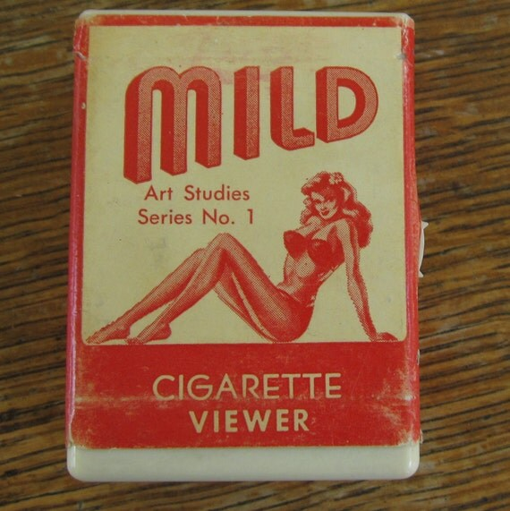 Vintage Nudes Pinup Stanhope Figural Cigarette Box Mature Pinup Viewer Art Studies