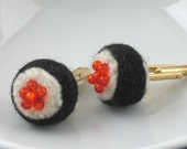 Cuff links felt sushi rice and roe