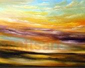 13 x 19 abstract cloud soft impressionist landscape print - Mattsart