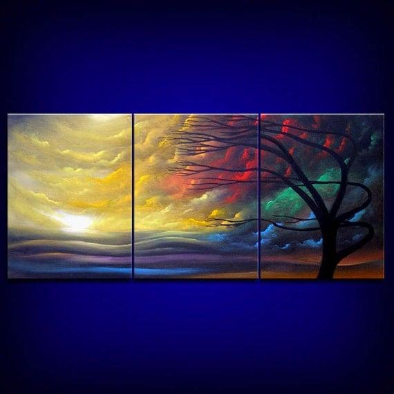 Silhouette Tree Paintings Silhouette Tree Painting
