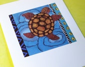 art print Save The Sea Turtles gift for animal lover