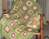 Baby Girl's Granny Square Afghan