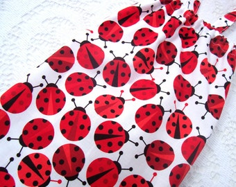 Plastic Bag Holder - Grocery Bag Dispenser - Grocery Bag Holder - Extra Large Bag Holder - Red Ladybugs