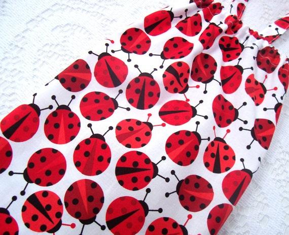 Plastic Bag Holder - Grocery Bag Dispenser - Red Ladybugs