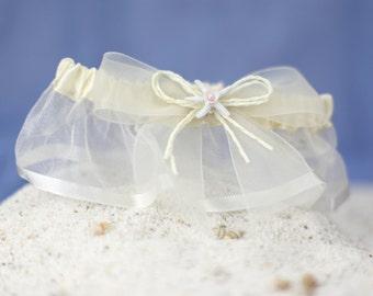Starfish & Shell Beach Wedding Garter - 50205