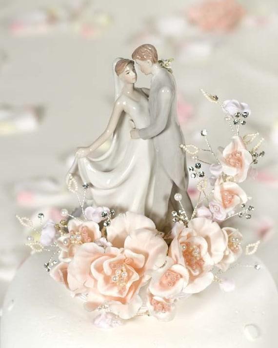 Vintage First Kiss Wedding Cake Topper - 100968