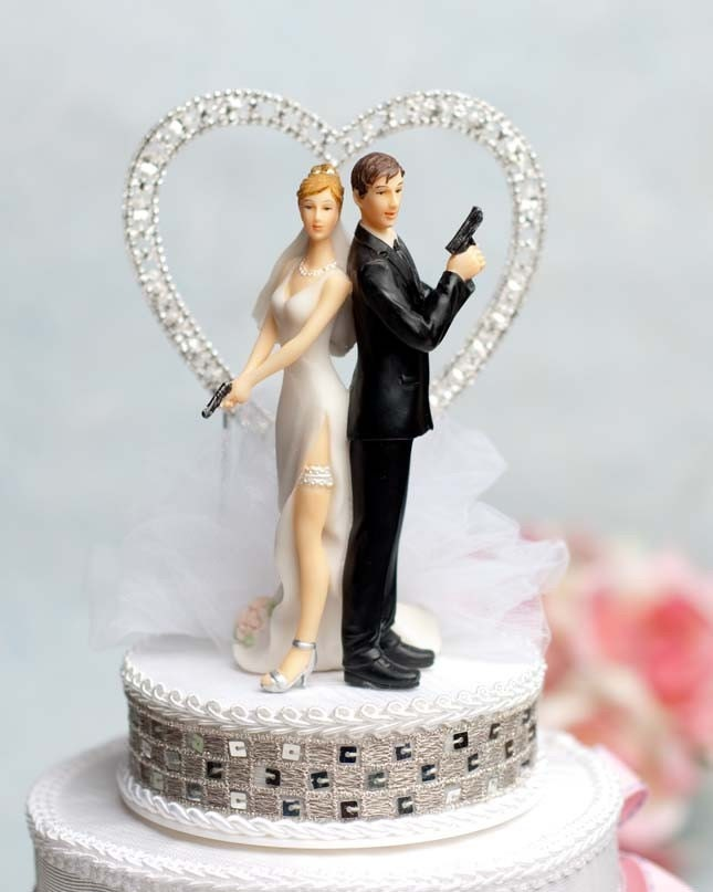 Super Sexy Spy Rhinestone Heart Wedding By Weddingcollectibles