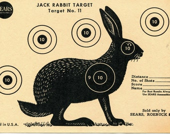 Vintage Shooting Target / Rabbit