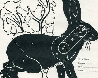 Vintage Shooting Target/ Winchester/ Jackrabbit