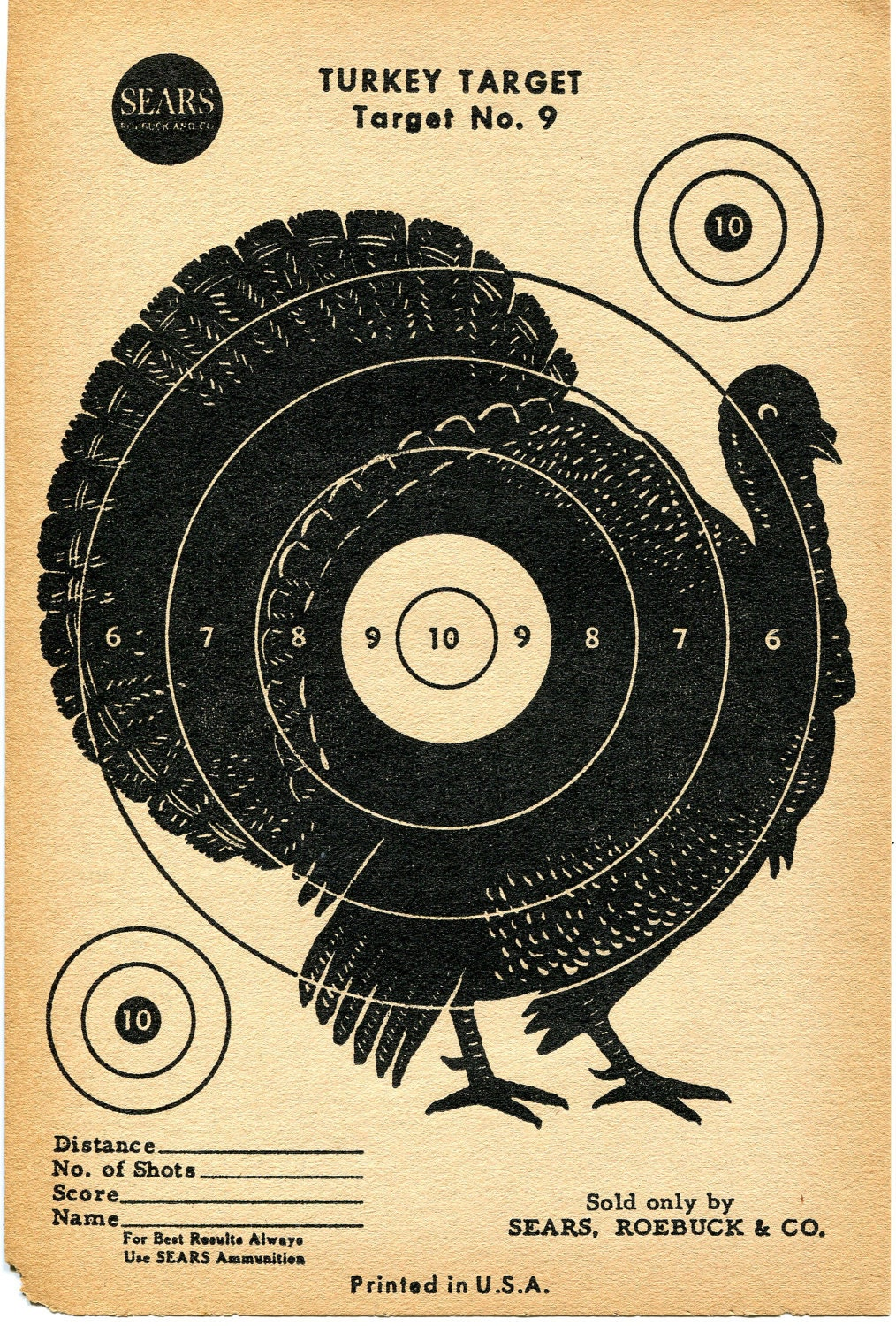 Inventive image with printable turkey target