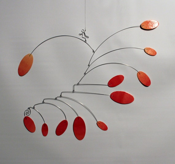 Namaste Kinetic Scuplture - Art Mobile - Hanging Sculpture - Calder Style